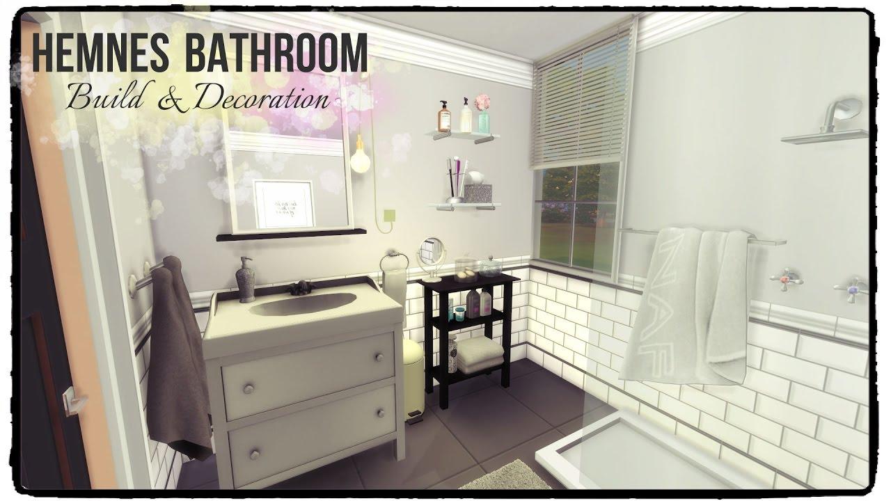 Sims 4 Hemnes Bathroom Build Decoration Youtube