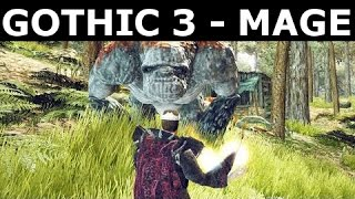 Gothic 3 Gameplay - Mage And Magic Spells (Gothic 3 Enhanced Edition v1.75)