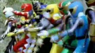 Power Rangers Dino Thunder - Ninja Storm with Iron man Theme