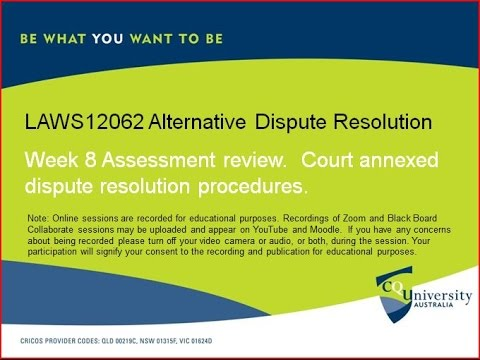 LAWS12062_8 Alternative Dispute Resolution