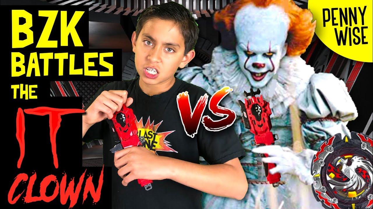 Funny Beyblade Battle vs Pennywise the It Clown! Beyblade Burst Turbo / GT  / SlingShock