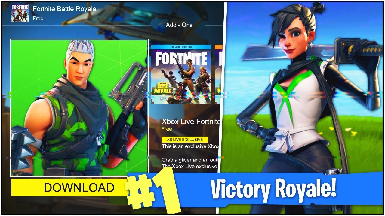 *NEW* XBOX ONE EXCLUSIVE SKINS in Fortnite Battle Royale ... Xbox One Skins Fortnite