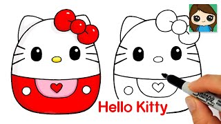 How to Draw Hello Kitty Easy | Squishmallows