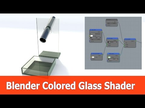 Blender Colored Glass Shader for Cycles