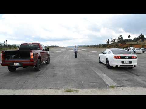 Ford Mustang 5.0 Coyote stock vs Tremor F150 stock #Autoemotion