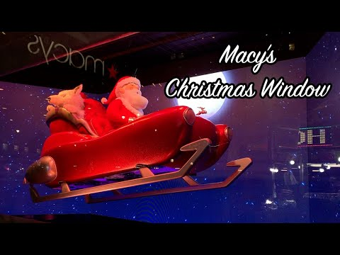 Macy's Christmas Window 2018 - New York City | Daily Upload December