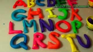 Learning Alphabet Letters with Play-doh Rainbow