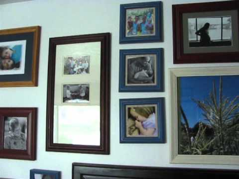 Photo Frame Wall how to make a picture frame wall - youtube