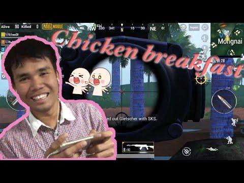Hasha!! Play pubg I got Chicken breakfast   Pubg Mobile gameplay 2019.