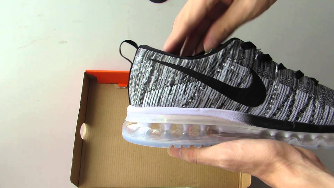 wholesale nike flyknit air max oreo on feet 2a63f d4506