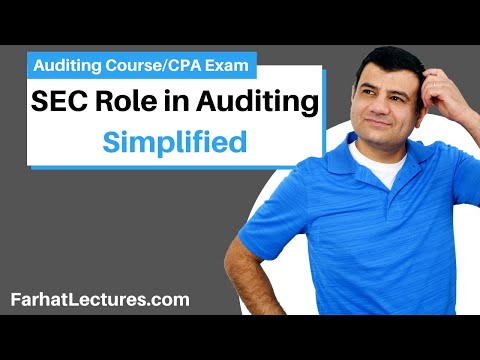 SEC Role in Auditing | Auditing and Attestation | CPA Exam | P 8