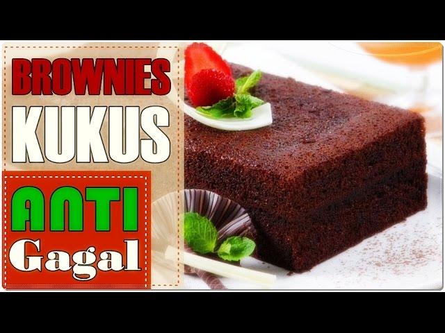 Rahasia Brownies Kukus Super Nyoklat    Resep Brownies Anti Gagal