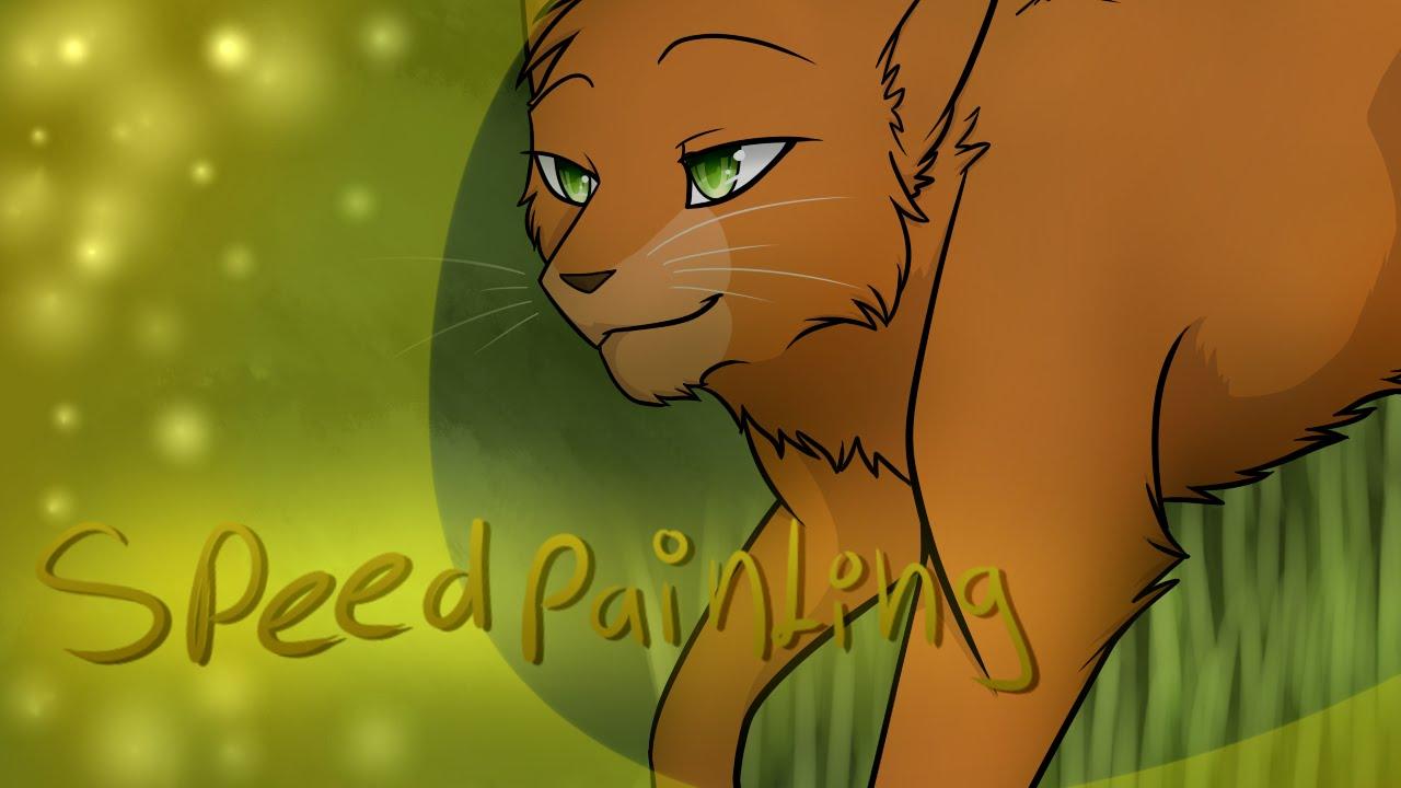 Speedpainting Warrior Cats Firestar And Sandstorm Youtube