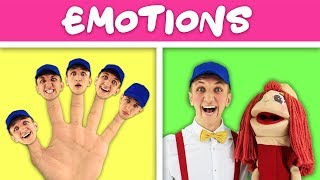Emotions Faces Song for Kids | Simple Nursery Rhymes. Sing Along With Tiki.