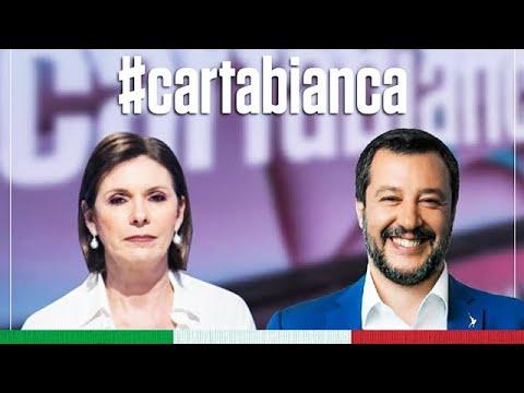 MATTEO SALVINI A CARTA BIANCA (RAI 3, 07.07.2020)