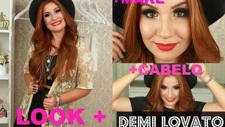 Make + look + cabelo da Demi Lovato! Por Bianca Andrade