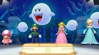 Mario Party 10 Minigames - Luigi vs Toadette vs Peach vs Rosalina