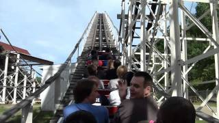 The Comet Wooden Roller Coaster POV Front Seat On-Ride The Great Escape Lake George NY HD 1080p