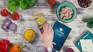 Рецепт: Салат хоріатіки з тунцем  - Торчин®