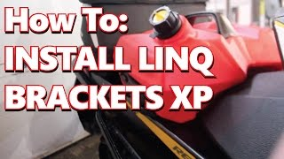 How to DIY Install BRP Ski-Doo Linq Accessory Brackets on a 2012 Sk...