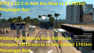 ETS2 1.22.2.4s EAA Bus Map v1.8 1741km Passenger Run