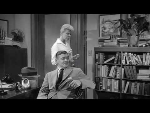 Doris Day Clark Gable 'Teacher's Pet' 1958 funny clip