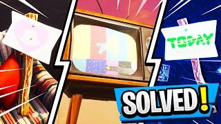 TV Warning Message *SOLVED*! | ALIENS & METEOR Confirmed! ( Fortnite Comet Theory )