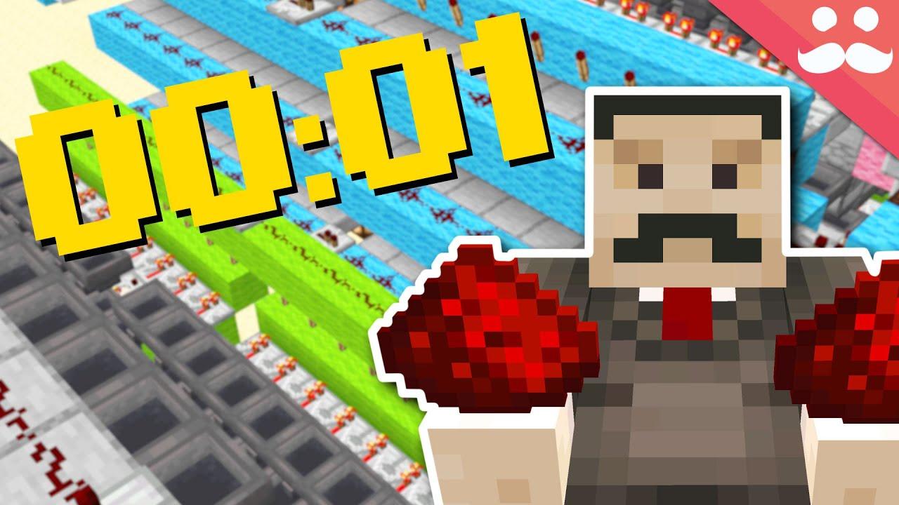 Trying to Speedrun Redstone in Minecraft