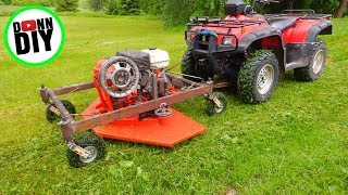 Homemade Front Mount ATV Mower
