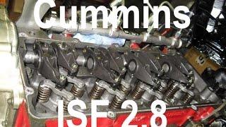 Регулировка клапанов на Cummins ISF 2.8