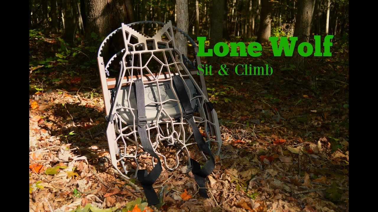 How To Use A Hand Climber Tree Stand Lone Wolf Youtube