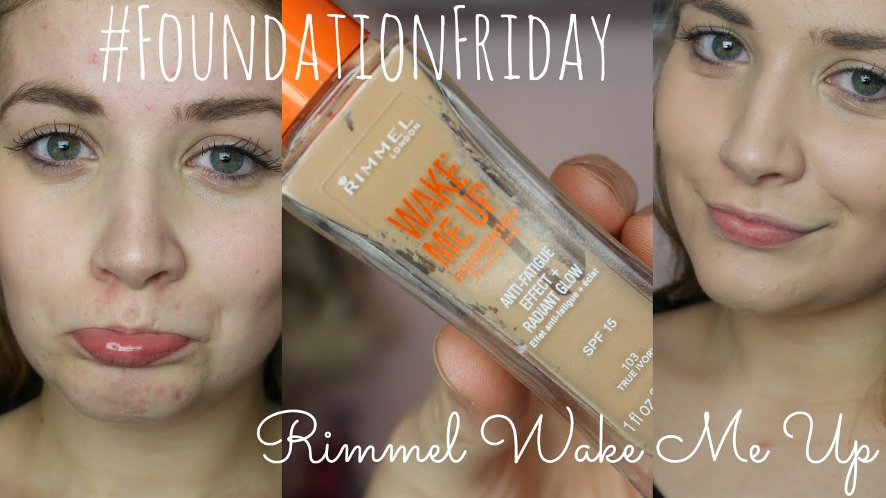 Foundationfriday Rimmel Wake Me Up Demo Review