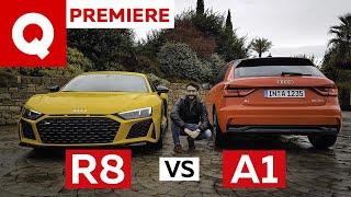 Audi A1 vs R8: cos'hanno in comune citycar e supercar?