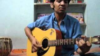 guitar chords lesson on bhajan achyutam keshavam krishna damodaram by bhanu pratap joshi