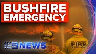 Eight emergency-level fires now raging across NSW   Nine News Australia