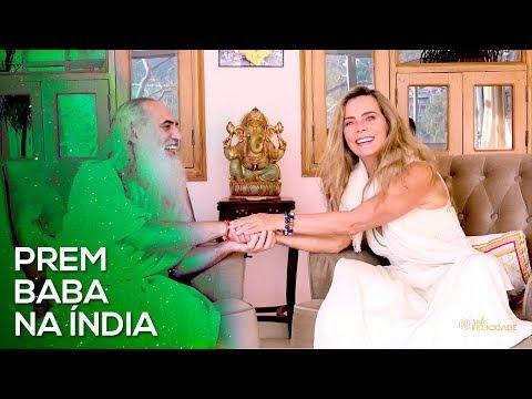 Bruna Lombardi e Prem Baba na Índia