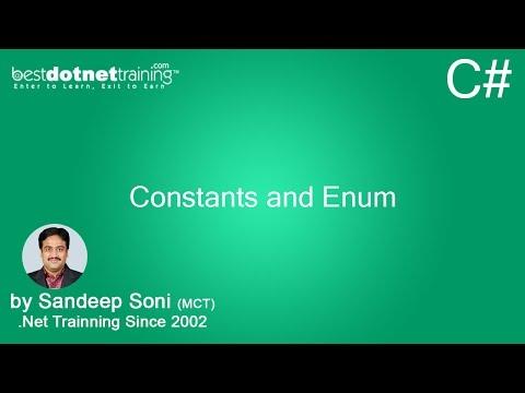 C# Constant and Enum - Enumarated data type - 6