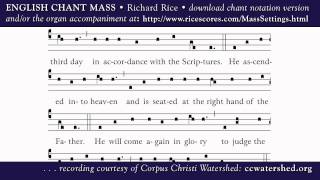 ENGLISH CHANT MASS • Richard Rice • CREDO (Creed)