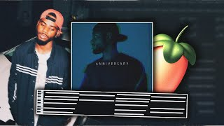 SMOOTH CHORDS | Making a Chill R&B Beat For Bryson Tiller [ANNIVERSARY] FL Studio