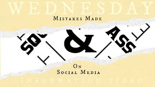 Wednesday Information Video: Sydney Oberholtzer of the Set-Up Series & Mistakes made on Social Media