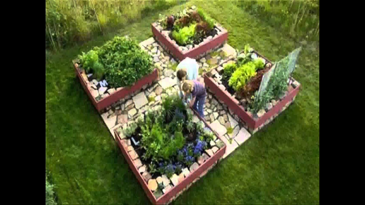 Small home raised bed vegetable garden ideas youtube for Small vegetable garden designs
