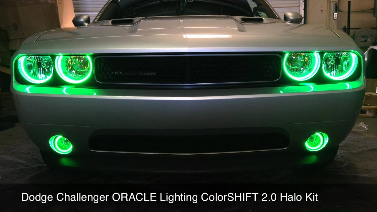 2012 Dodge Challenger Oracle Colorshift Halo Kit Installed