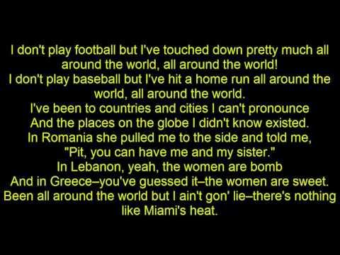 Chris Brown ft.  Pitbull -  International Love | lyrics