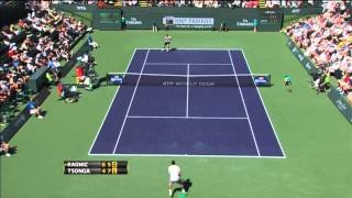 Raonic Wins Hot Shot Volley Exchange vs. Tsonga