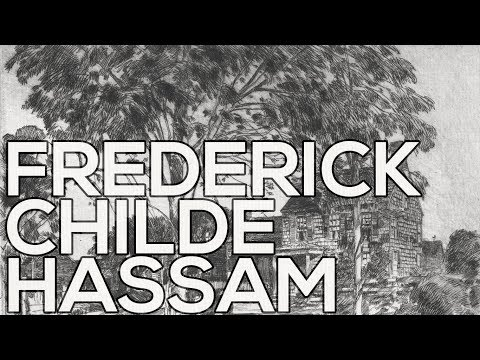 Frederick Childe Hassam: A collection of 198 sketches (HD)