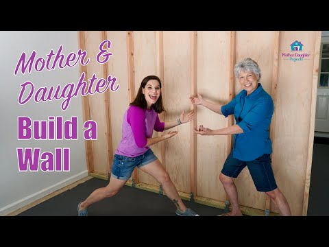 Mother & Daughter Build a Wall // How to