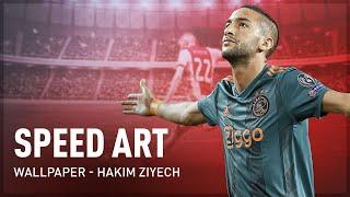 Speed Art | Wallpaper | Hakim Ziyech