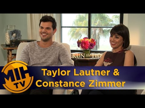 Taylor Lautner & Constance Zimmer Run the Tide Interview