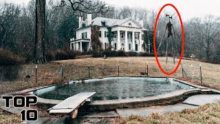 Top 10 Scary Abandoned Mansion Discoveries - Part 3