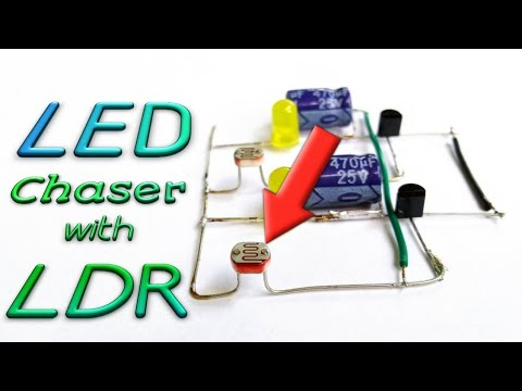 LED Chaser With LDR || Photo Resistor || Amazing Idea || By Es Tech Knowledge